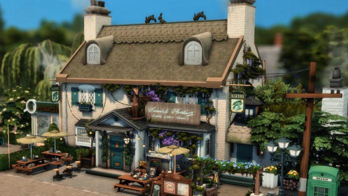 Бар «Зелёный дракон» от moonlight для Sims 4