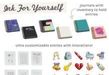 Мод «Улучшенный личный дневник, журнал» от ravasheen для Sims 4