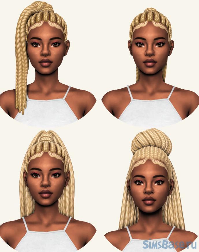 Набор причесок в стиле Maxis от sheabuttyr для Sims 4