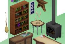 Набор мебели колдуньи от ZWHsims для Sims 4