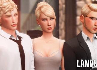 Переделка симов ЕА из Оазис Спрингс от nemesis для Sims 4