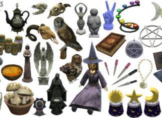 Набор декора Ведьмы от tinywardens для Sims 4