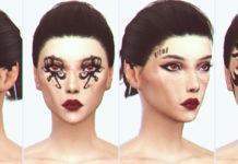 Набор татуировок для лица из Baldur's Gate 3 от satterlly для Sims 4