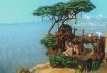Бар Парящая скала от giraffesvoice для Sims 4